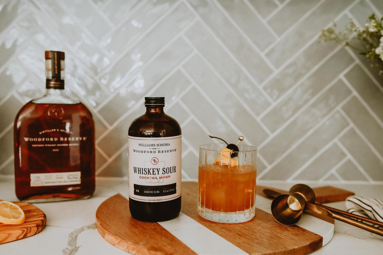 Woodford Reserve x Williams Sonoma Cocktail Mixers